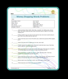 money shopping problems