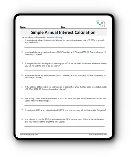 simple annual interest rate