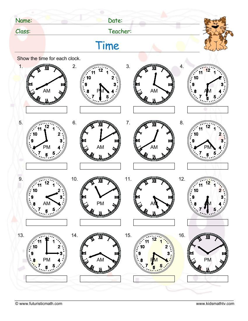 Telling Time Varied Clock Faces