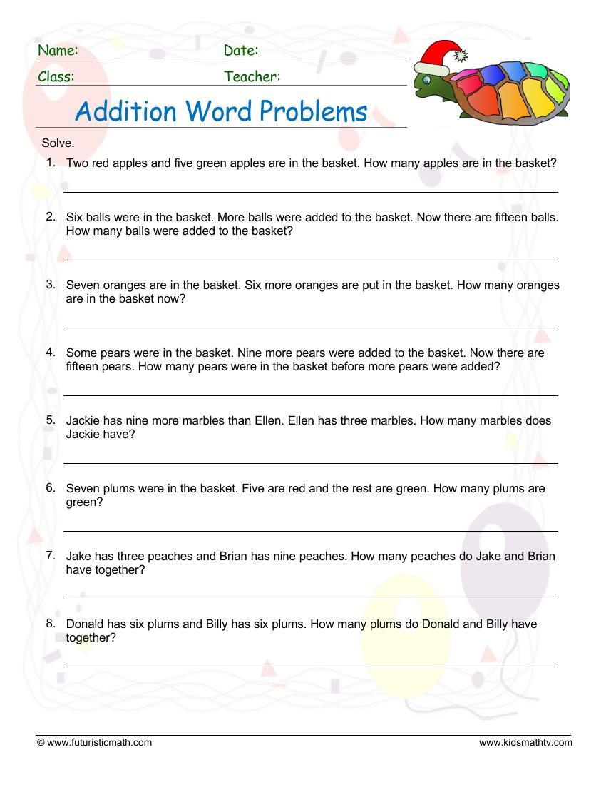 Addition Word Problems 2