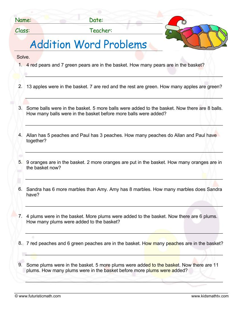 Addition Word Problems 3