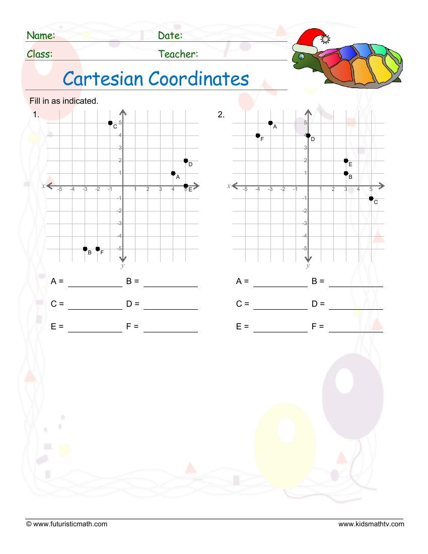 Cartesian Coordinates Find Points In A Graph