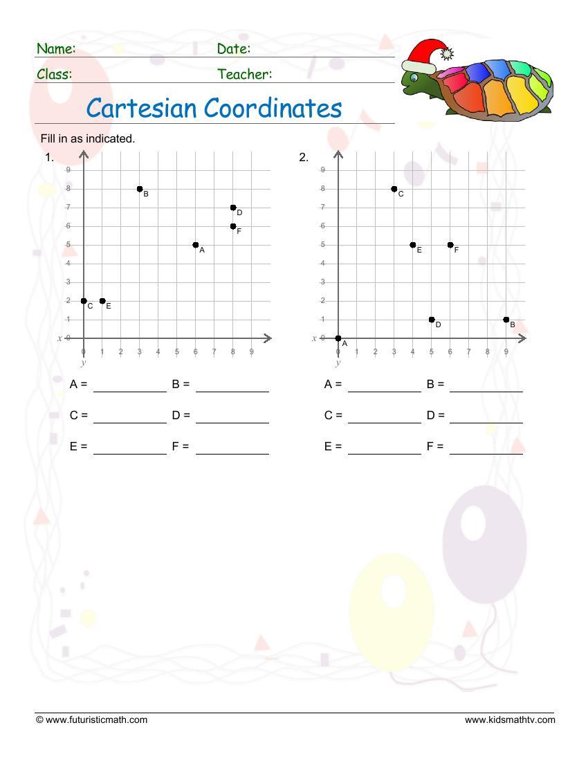 Cartesian Coordinates Single Quadrant