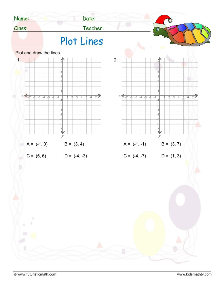 Plot And Draw Lines On A Graph