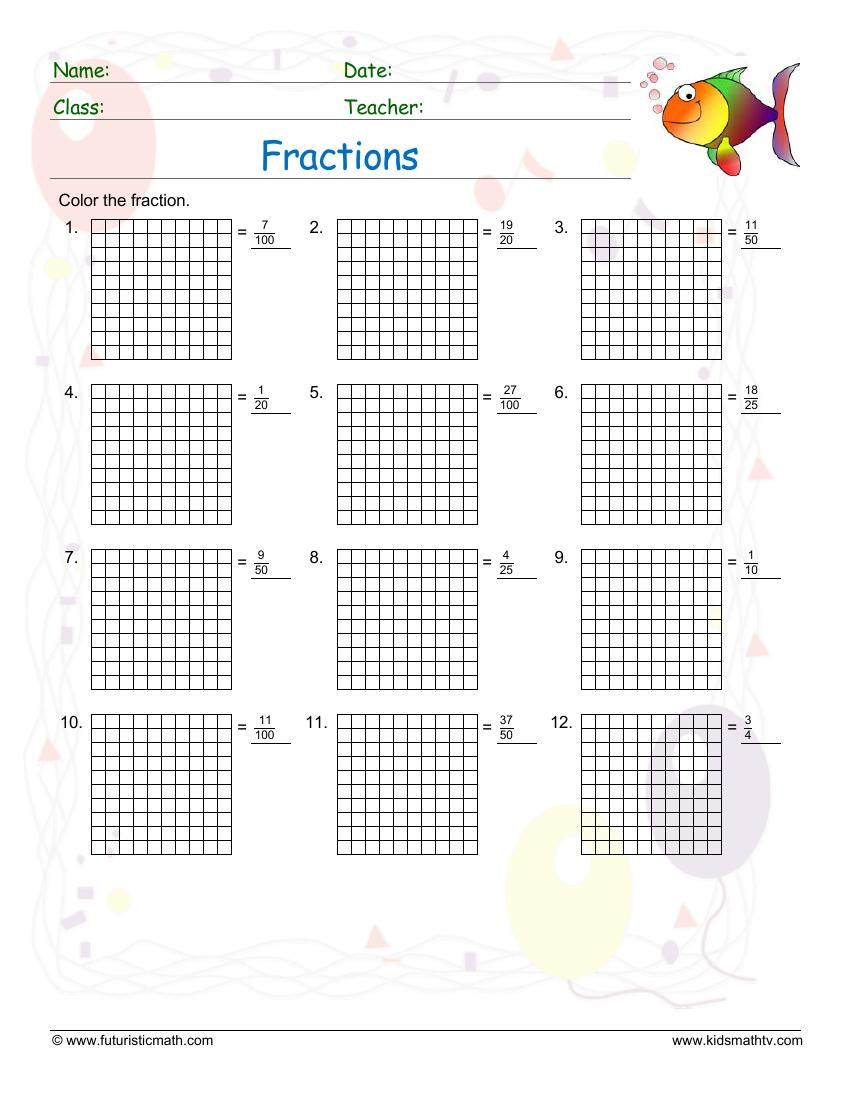Fraction Identification Grids