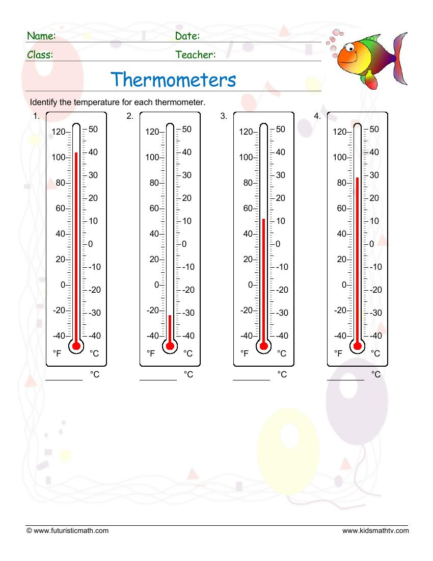 Reading A Thermometer Degrees Celsius