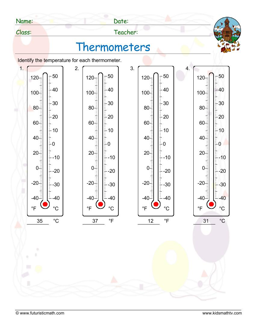 Shade Temperatures On Thermometers