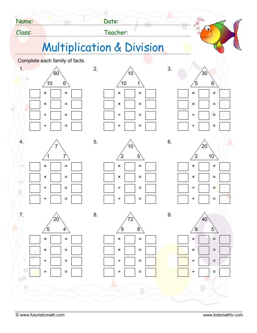 Multiplication Fact Family