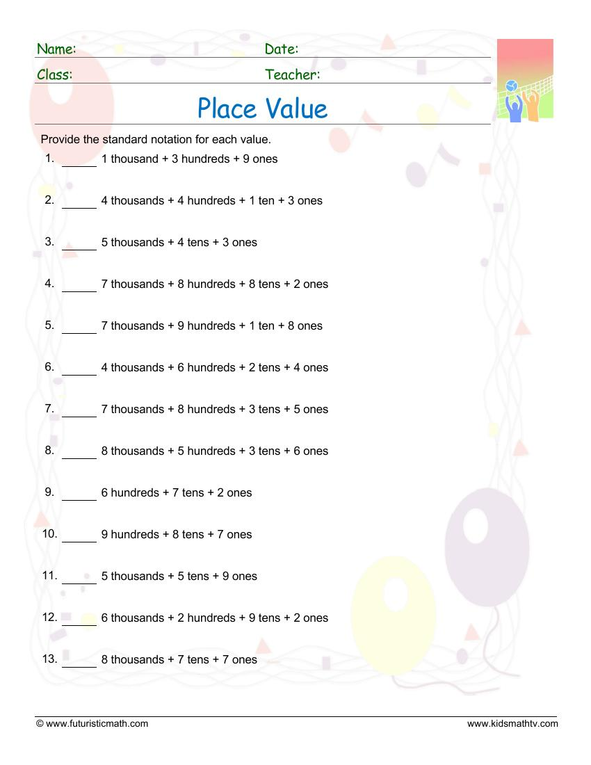 Place Value Expanded Forms