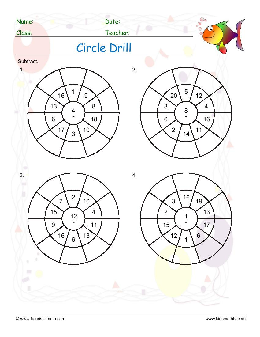 Circle Drill Subtraction