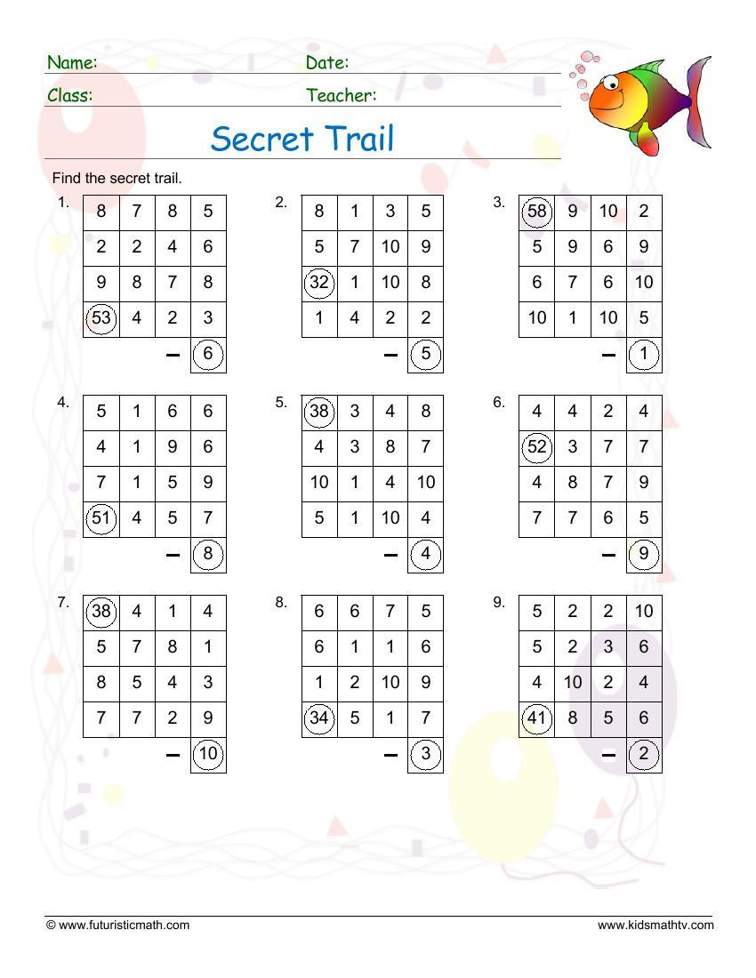 Secret Trail Subtraction